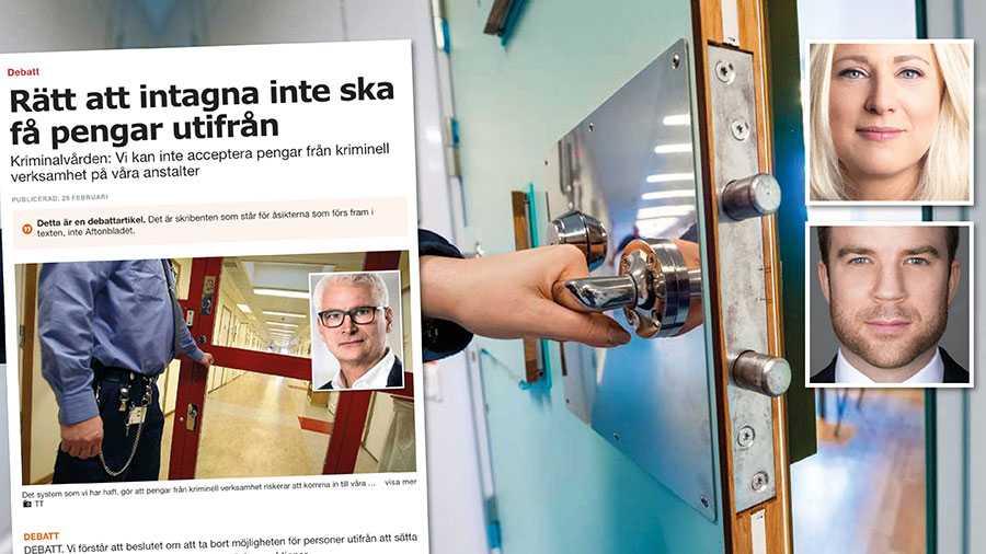 Beslutet att stoppa anhöriga att sätta in pengar till intagna kan både vara i strid med svensk grundlag och innebära en kränkning av mänskliga rättigheter. En ordning som är helt oacceptabel i en rättsstat, skriver försvarsadvokaterna Anna Dahlbom Langley och Linus Gardell.