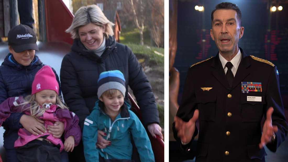 """""""Hon hade ingen utbildning, hon hade ingen skyddsutrustning men hon insåg katastrofen. Att hon och hennes barn var fast i ett brinnande inferno"""", säger Sveriges överbefälhavare Micael Bydén."""