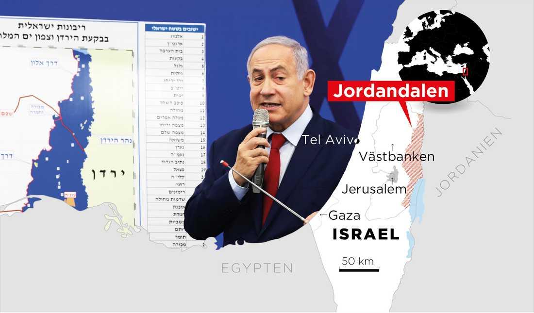 Israels premiärminister Benjamin Netanyahu vill införa israelisk suveränitet i Jordandalen.