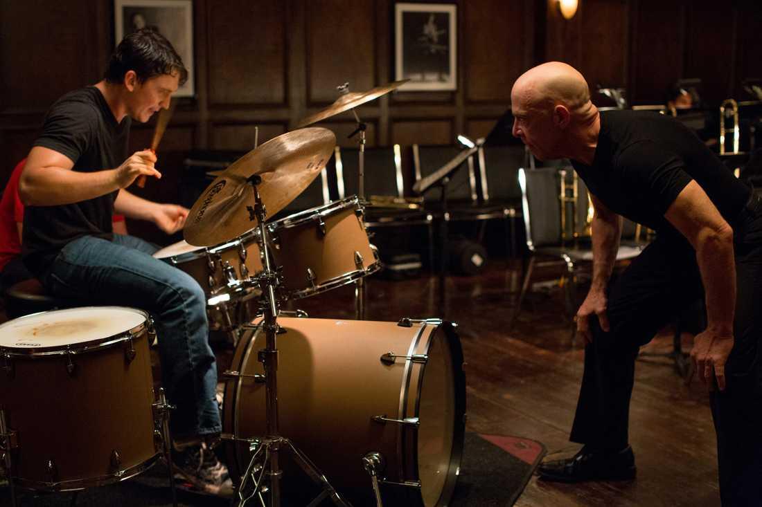 """Miles Teller och JK Simmons i """"Whiplash""""."""