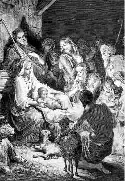 """Jesu födelse"", konstverk av Gustave Doré (1832-83)."