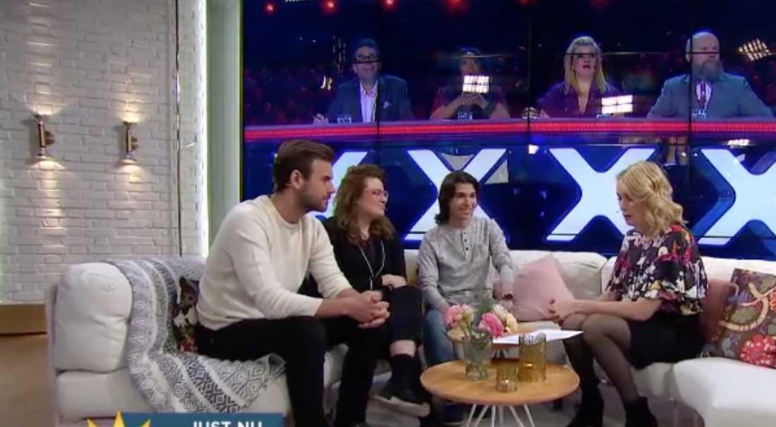Per lärnström, Kakan Hermansson och Ibrahim gästade TV4:s Nyhetsmorgon.