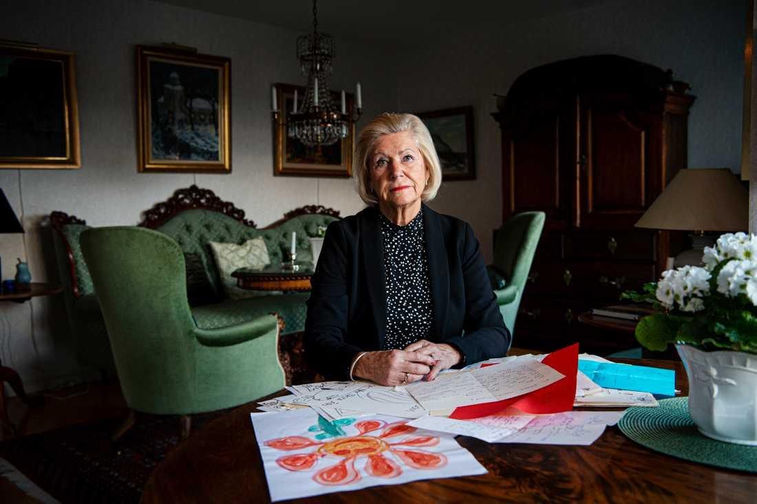 """""""Efter sju år upplever jag fortfarande tystnaden som värst"""", säger Ulla Lindgren, 79, som skulle ha firat 40-årig bröllopsdag med sin Bertil när han hastigt insjuknade."""