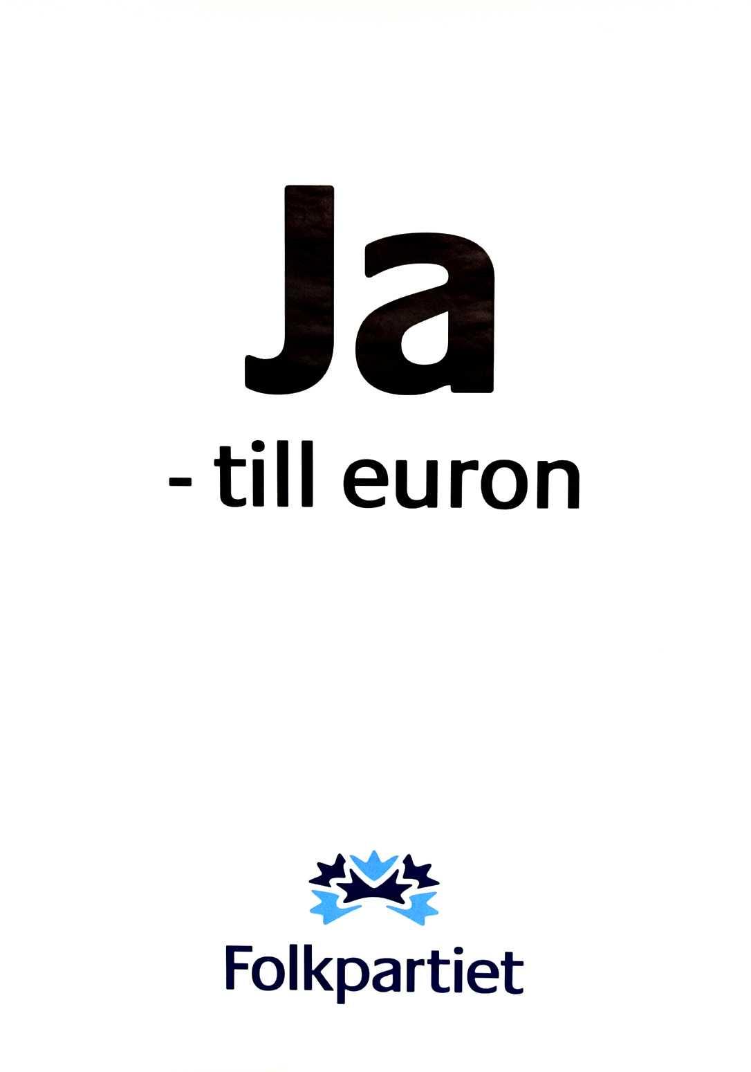 2003 Folkpartiet inför EMU–valet