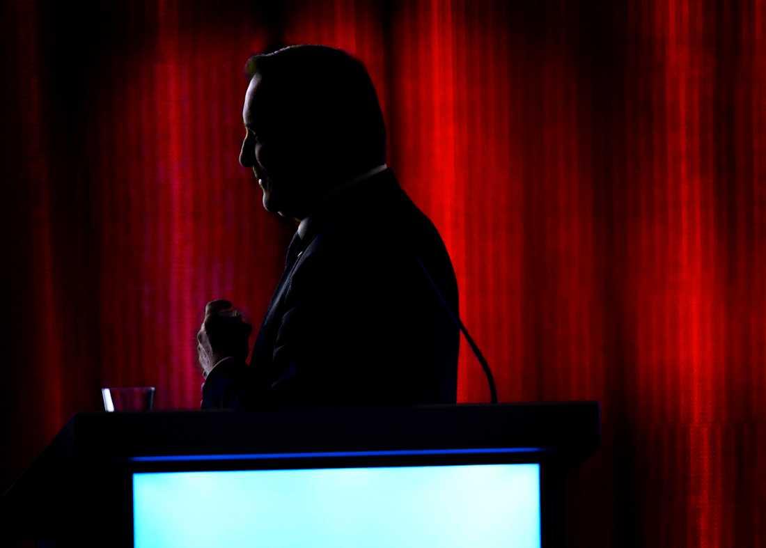 Statsminister Stefan Löfven under dagens kongress.