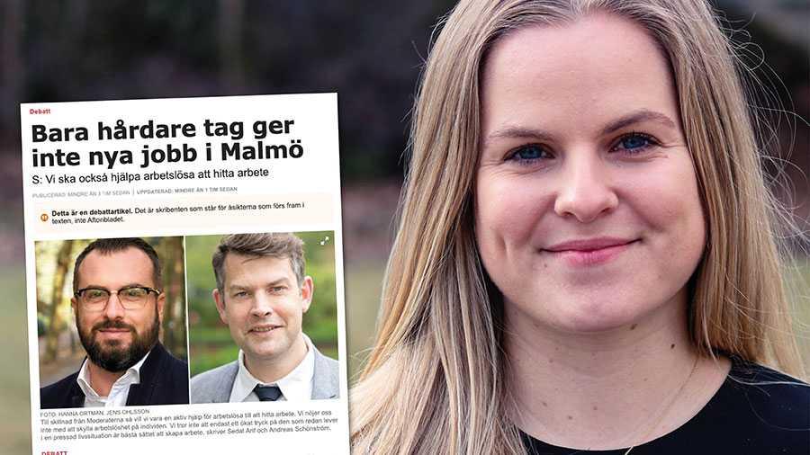 Arif och Schönström verkar nöjda trots att arbetslösheten i Malmö är högst i hela landet. Att ställa krav är att bry sig. Arbetslinjen bygger på att den som försörjer sig genom bidrag ska göra allt den kan för att komma närmre arbetsmarknaden. Det är rimligt och rättvist. Replik från Helena Nanne, Moderaterna.