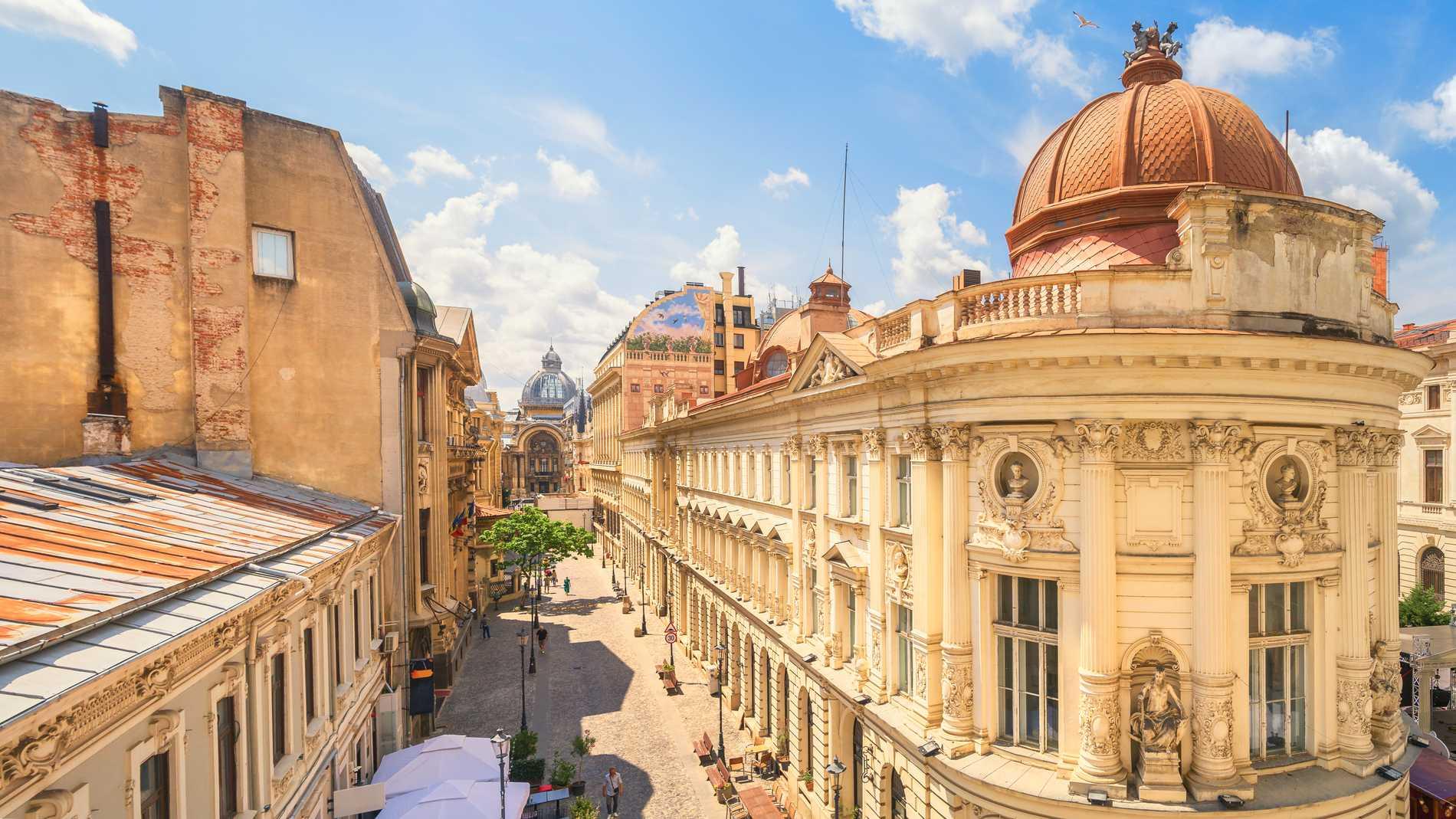 Horatiu Horvat tycker extra mycket om gamla staden i Bukarest.