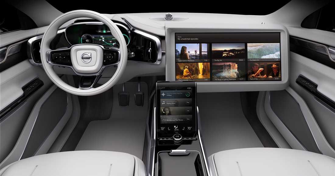 Concept 26 är högteknologisk och fokus ligger på ett ge förare som inte behöver hålla i ratten – utrymme att göra annat.