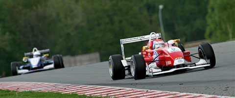 Felix Rosenqvist blev tvåa på Sachsenring.