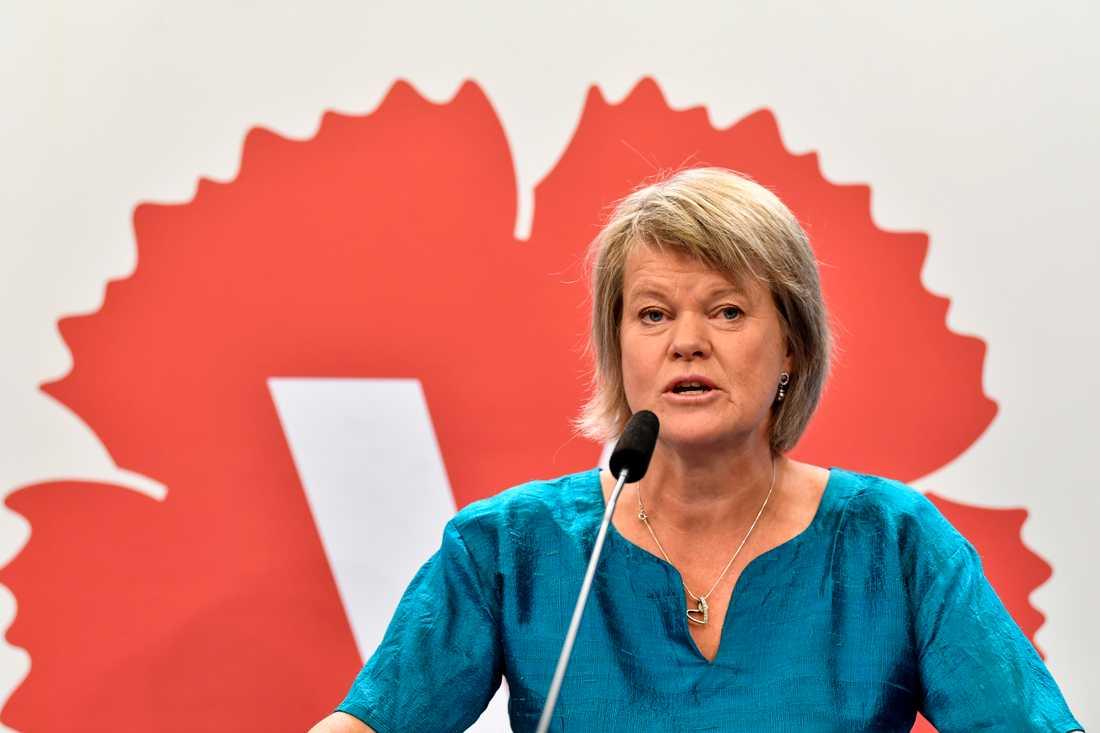 Vänsterpartiets ekonomisk-politiske talesperson Ulla Andersson vill införa en progressiv kapitalskatt. Arkivbild.