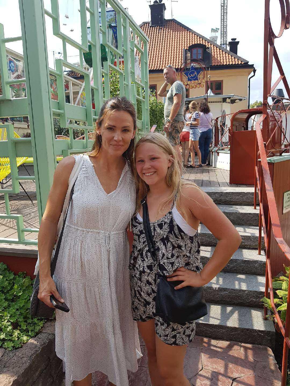 Alicia, 12, fick också en bild med Hollywoodstjärnan Jennifer Garner på Gröna Lund