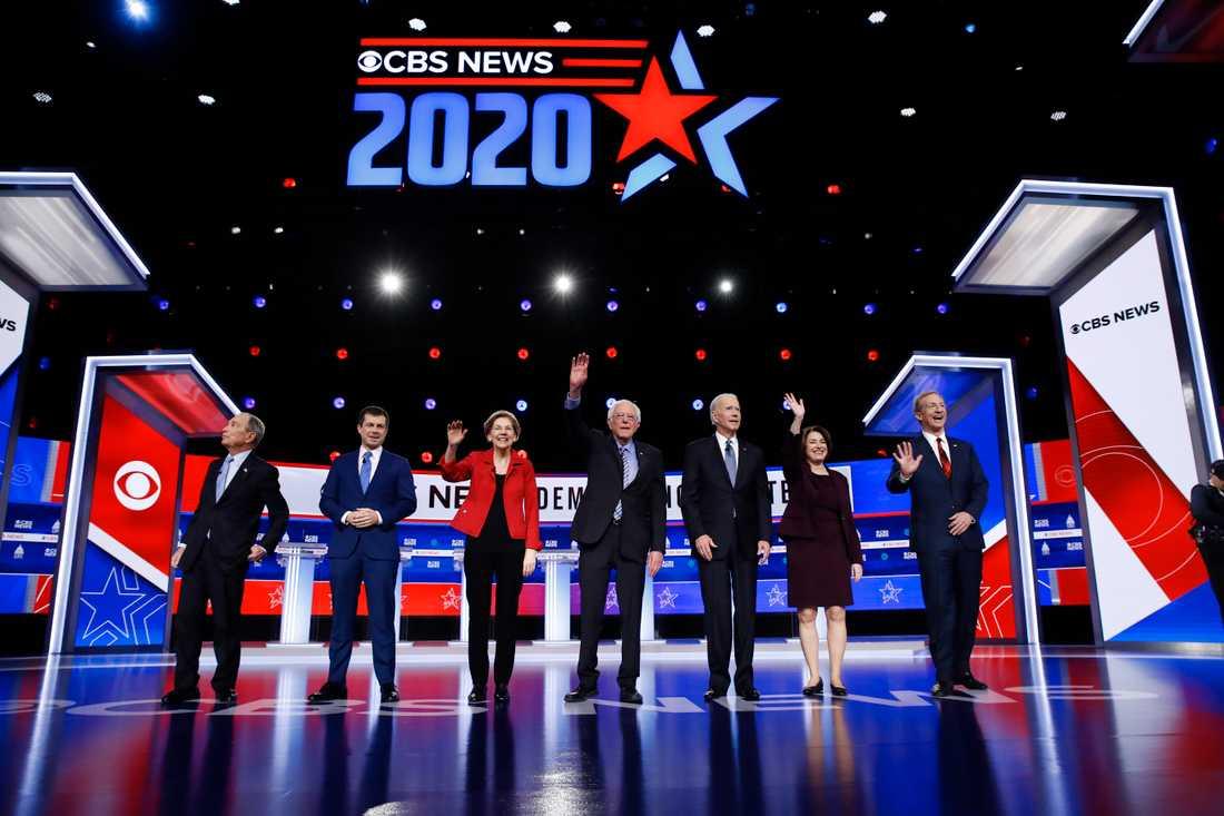 Sju kandidater i uppvärmning inför helgens primärval.