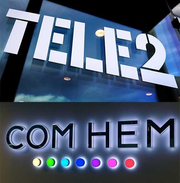 Com Hem och Tele 2.