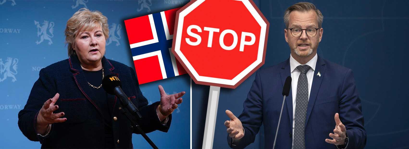 Damberg: Sverige inför inreseförbud från Norge