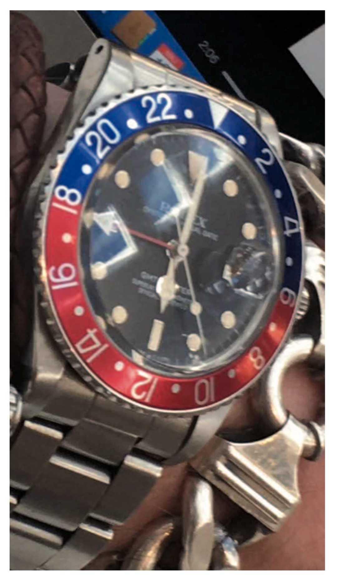 Rolex-klocka som blev bytet vid rånet på Birger Jarlsgatan.