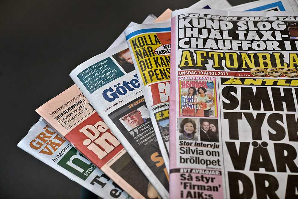 Papperstidningen är gårdagens nyheter.