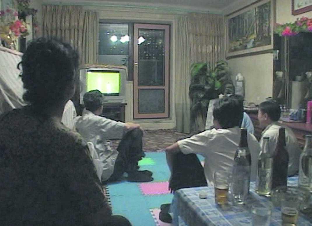 Matchen sändes live i Nordkorea.