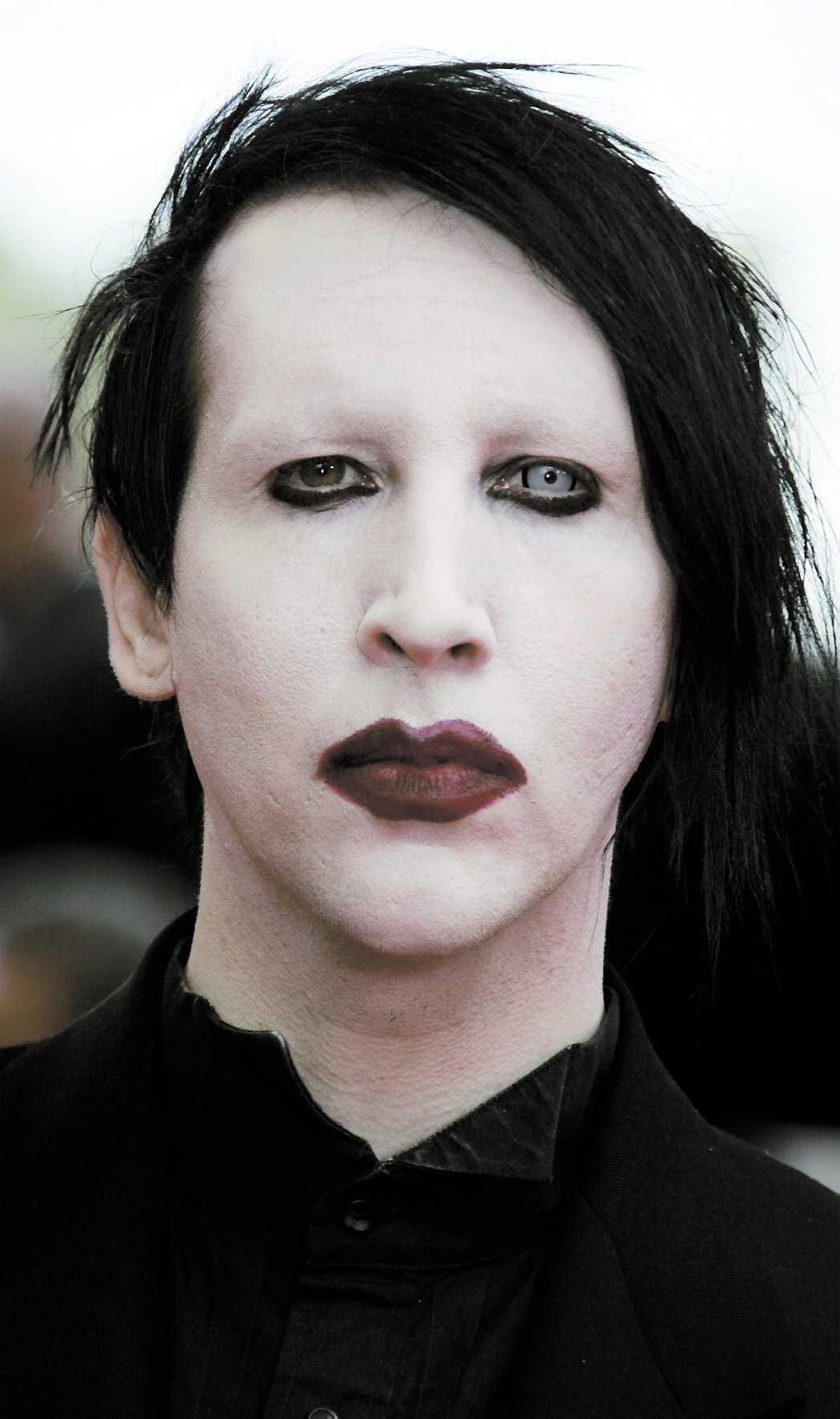 Amerikanska skräckrockaren Marilyn Manson.