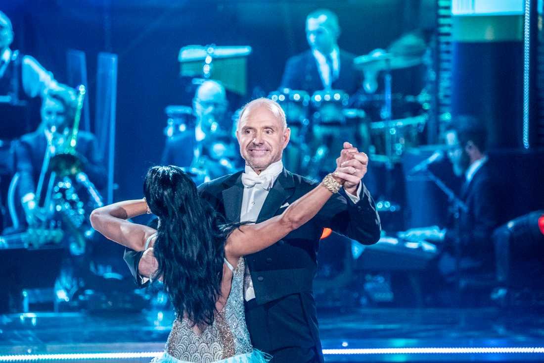 Thomas Ravelli och danspartnern Jasmine Takác