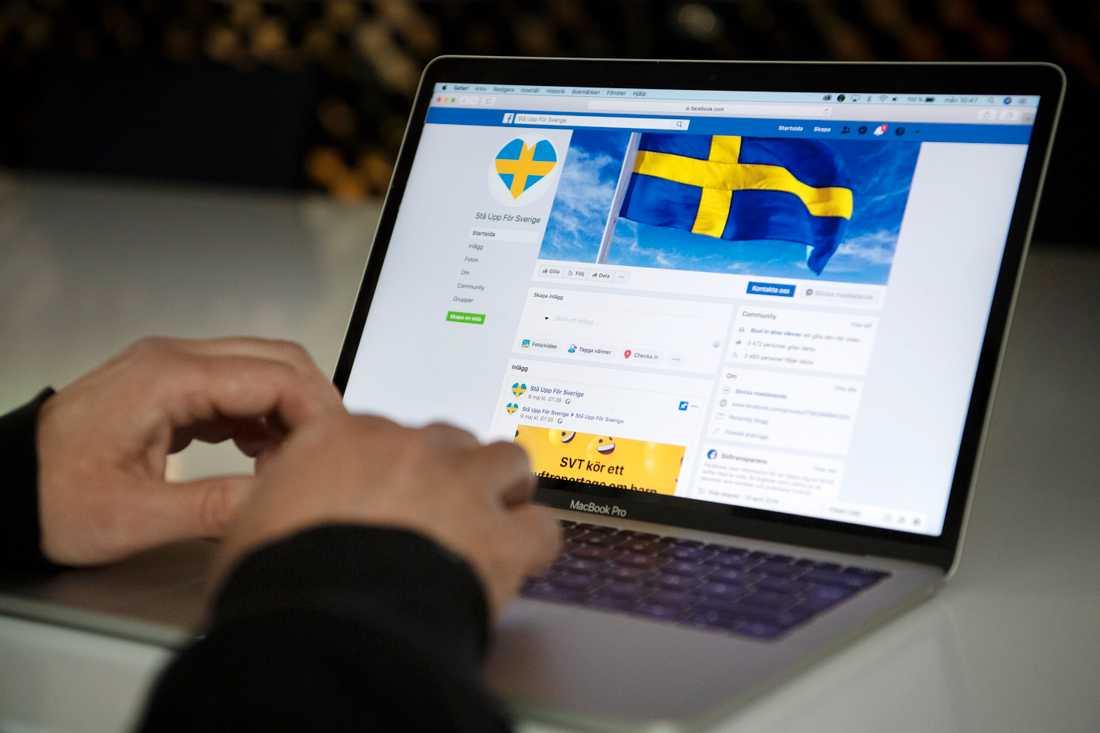 """Den man som dömdes för att inte ha plockat bort rasistiska kommentarer från Facebookgruppen """"Stå upp för Sverige"""" har överklagat domen. Arkivbild."""