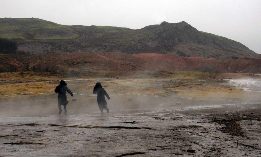 Turister på Island. Arkivbild.