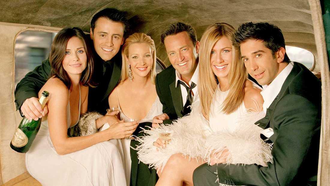 """Stjärnorna från tv-komedin """"Vänner""""."""