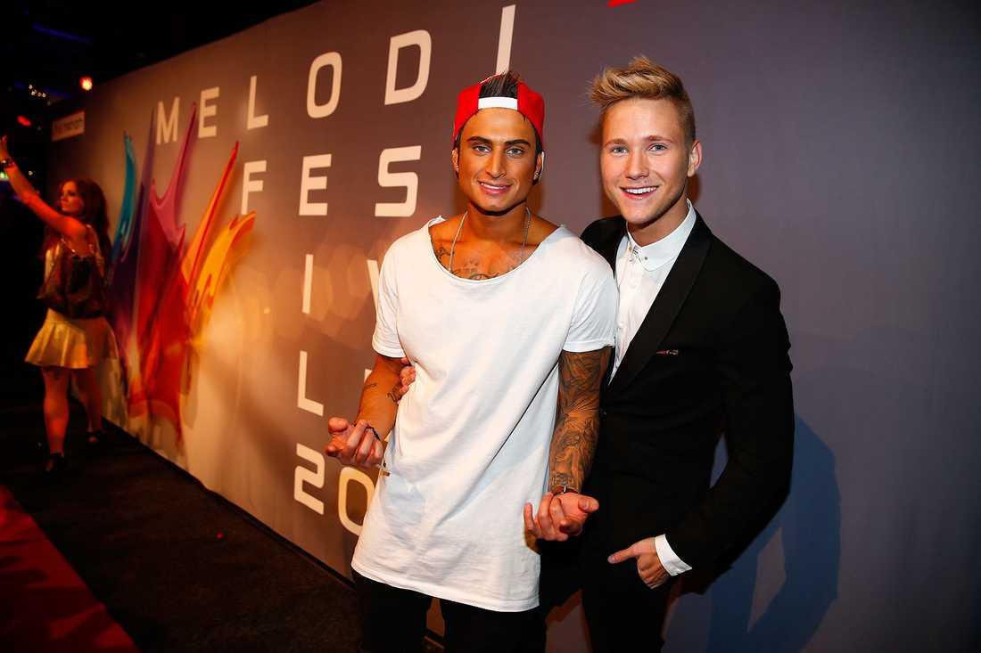 Samir & Viktor under Melodifestivalen 2015.