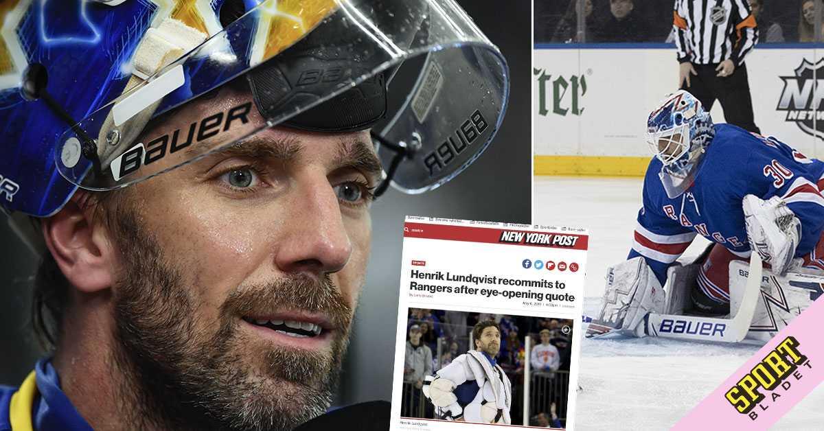 Henrik Lundqvist Vill Avsluta I New York Rangers Fortydligar Sitt
