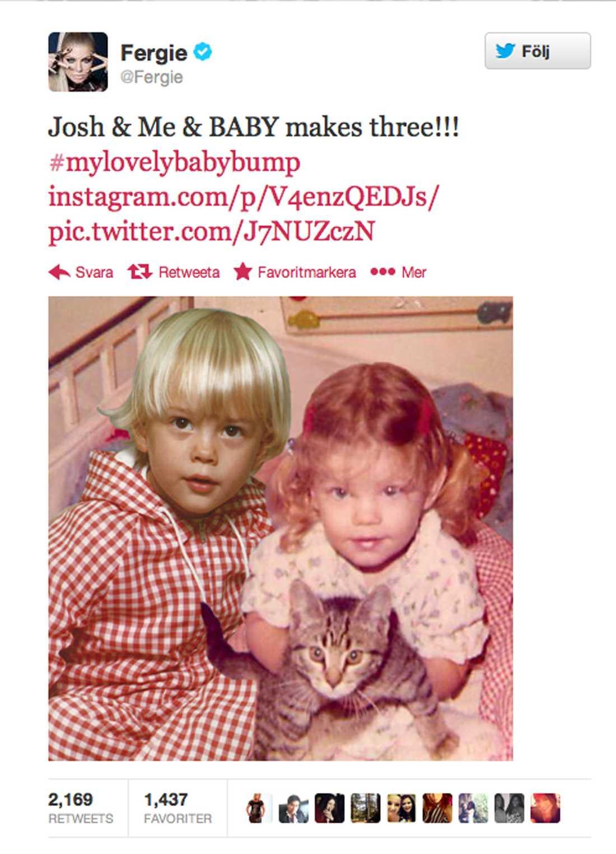 Den här bilden twittrade sångerskan ut igår.
