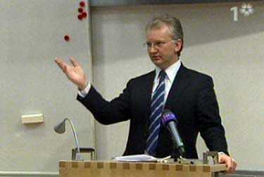 Finansminister Pär Nuder uttalade sig under ett frukostmöte på SE-banken på onsdagsmorgonen.