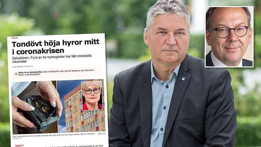Sveriges Allmännytta och Fastighetsägarna ser inte att det finns skäl att generellt avstå från hyresjusteringar för 2021, skriver Anders Nordstrand och Anders Holmestig.