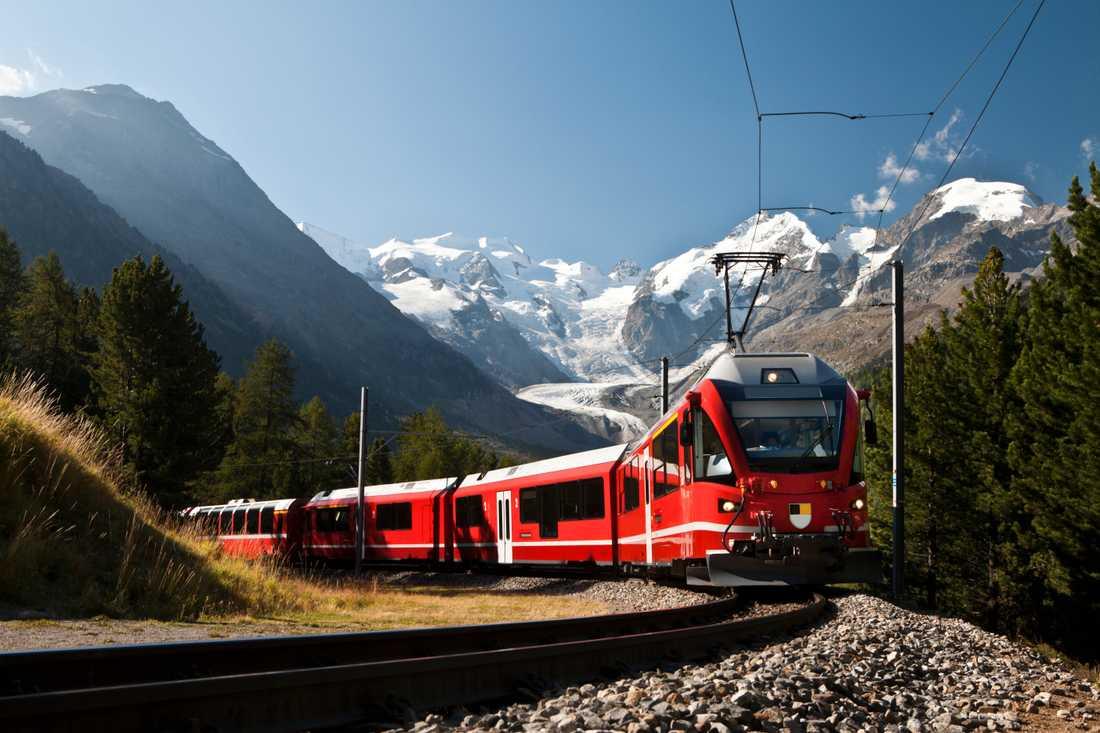 Att resa med tåg växer i popularitet.