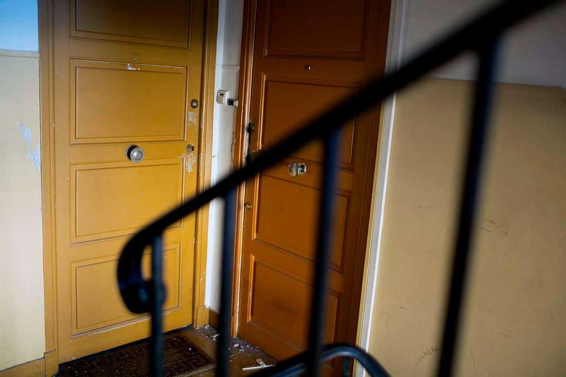Lägenheten där den misstänkte terroristen tros ha bott.