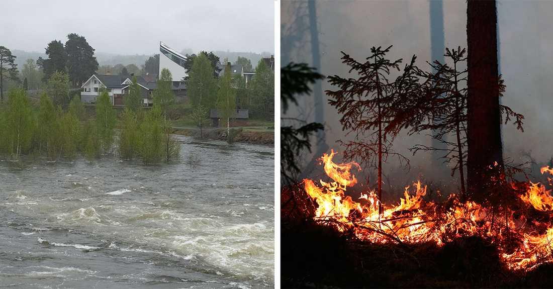 SMHI varnar för både bränder och vårflod.