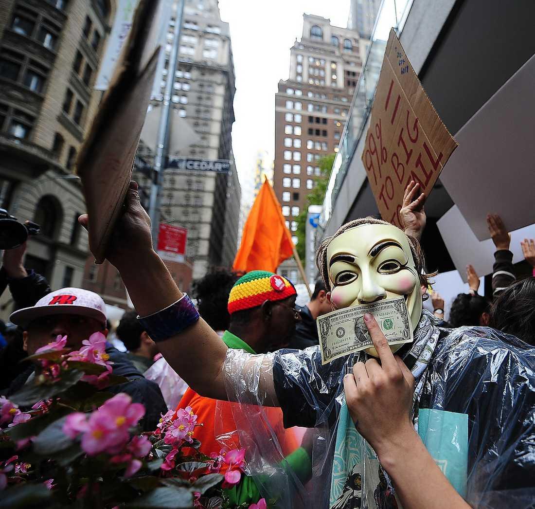 """""""Occupy Wall Street""""-rörelsen planerar manifestationer i Sverige."""