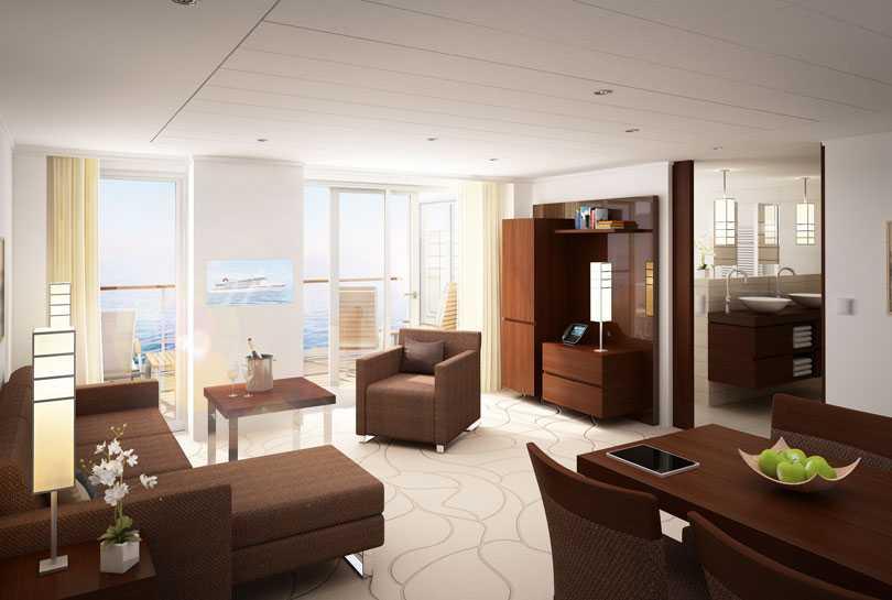 Stilrena penthouse-sviten.