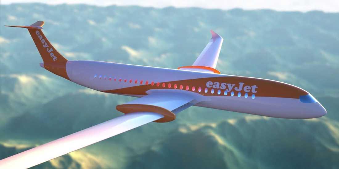Det brittiska lågprisbolaget Easyjet hoppas kunna flyga en del av sina rutter på el i framtiden.