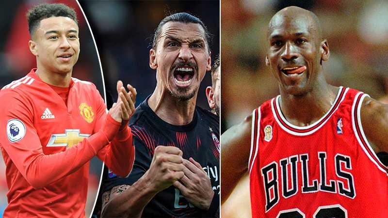Jesse Lingard jämför Zlatan med Michael Jordan.