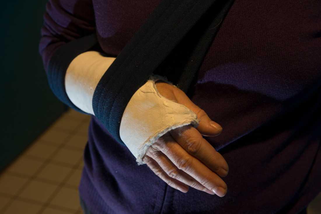 Först efter fyra år upptäcktes att tonåringens handled var bruten. Arkivbild.