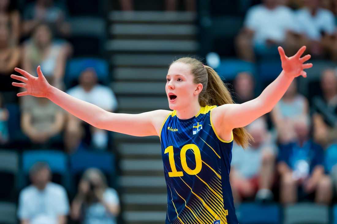 Isabelle Haak släpps inte av sin klubb till landslagets EM-kval. Arkivbild.