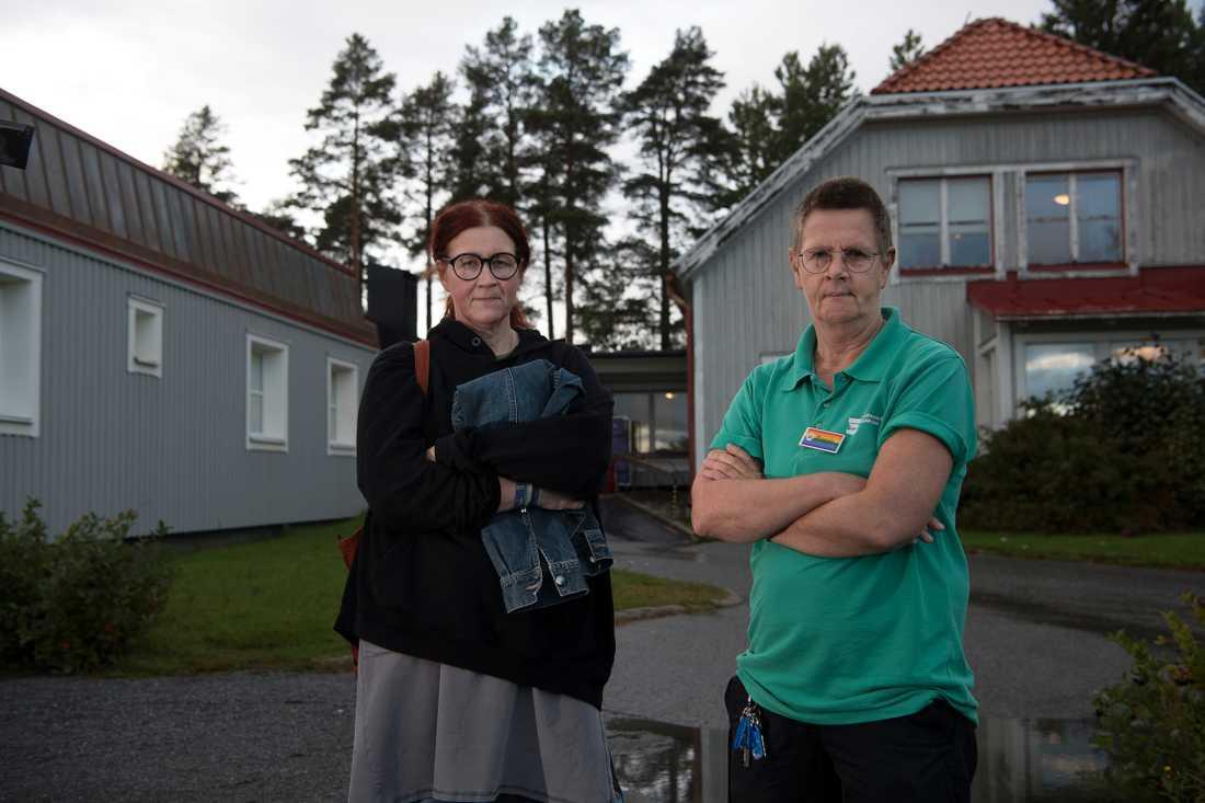 Margreth Jakobsson, huvudskyddsombud Kommunal och Maria Björklund, huvudskyddsombud Kommunal.