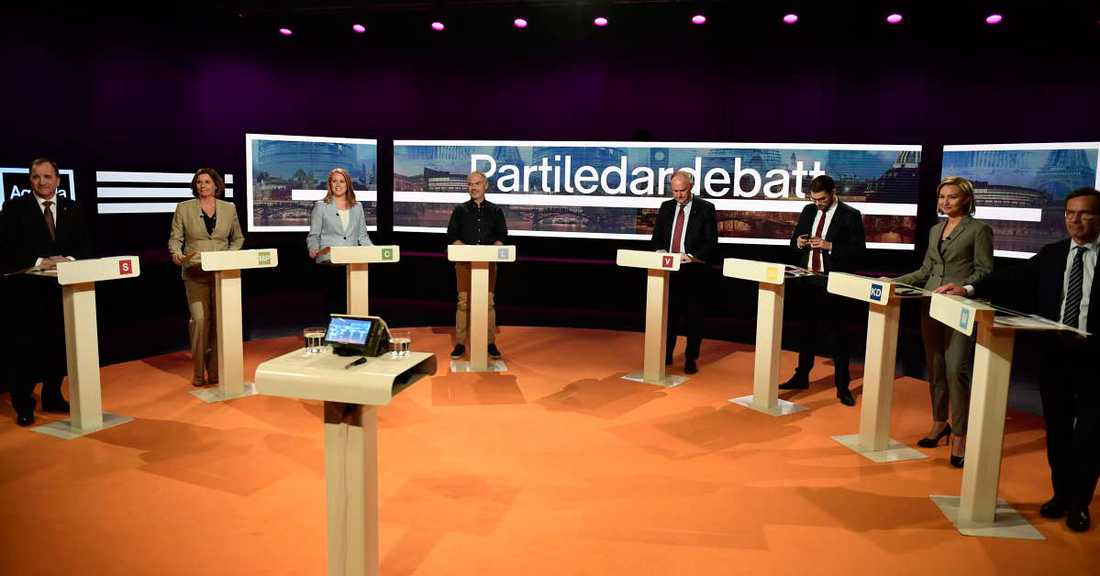 Partiledardebatt i SVT.