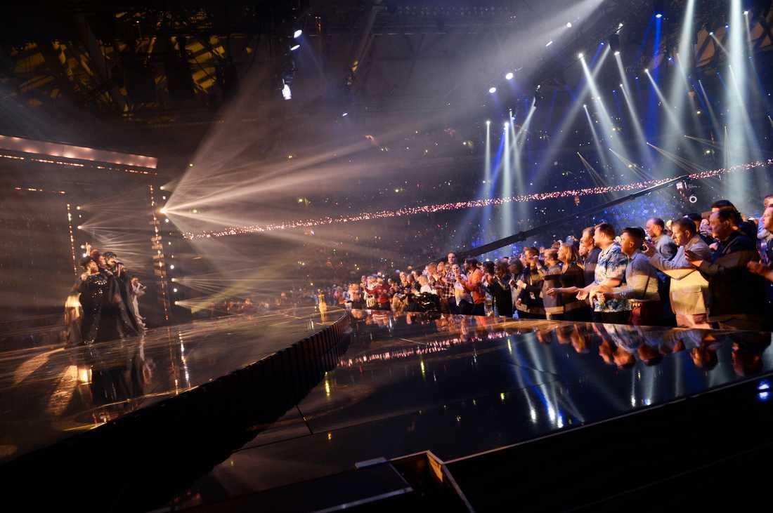 The Mamas på scenen under Melodifestivalen 2020.