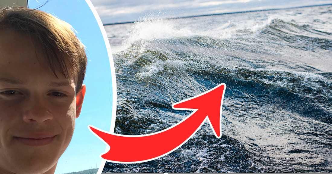 Anton tvekade inte en sekund när kompisarna inte kunde ta sig in till land. Han hoppade i vattnet och guidade och drog dem ur den kraftiga strömmen.