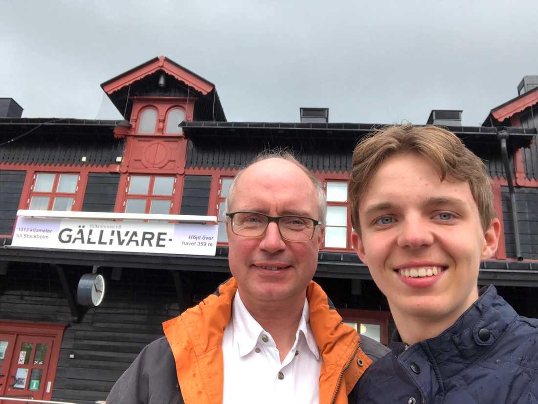 Anders och Philip Hallberg i Gällivare.
