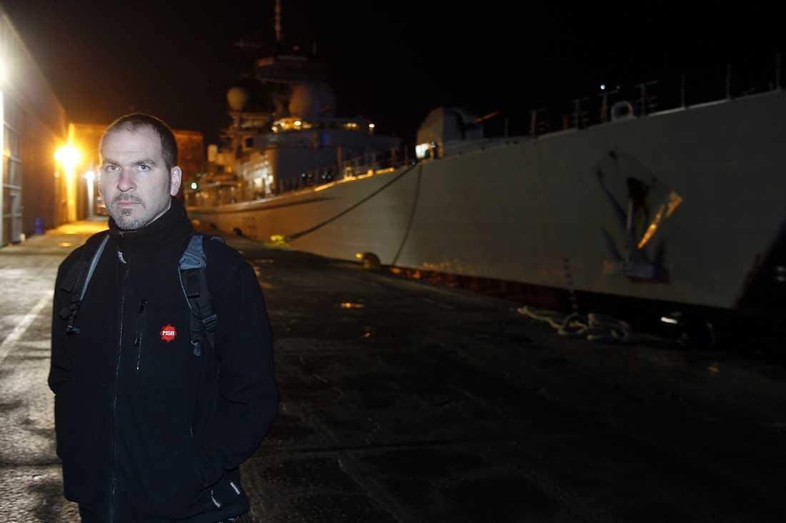 """Anders Normark, Beredskapsmyndigheten, är på plats i Malta. """"Det känns bra att delta i det här uppdraget"""", säger han."""