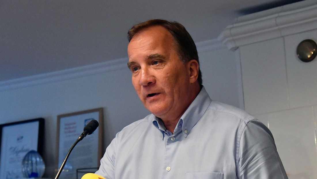 Statsministern Stefan Löfven kommenterar gängskjutningarna.
