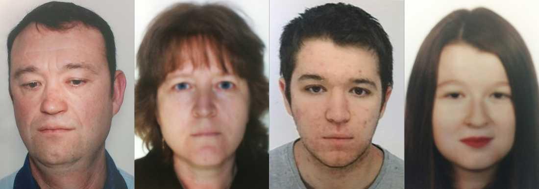 Föräldrarna Pascal och Brigitte samt deras barn Sebastien, 21, och Charlotte, 18, var mystiskt borta.