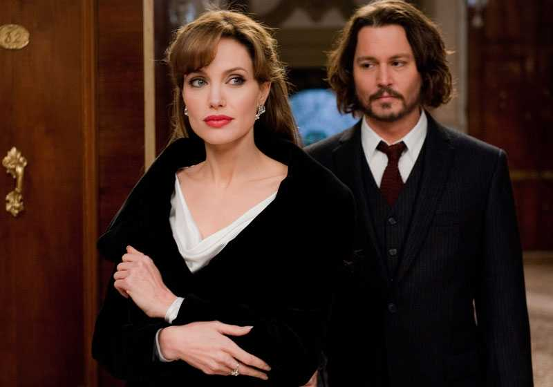 "Angelina Jolie och Johnny Depp i ""The Tourist""."