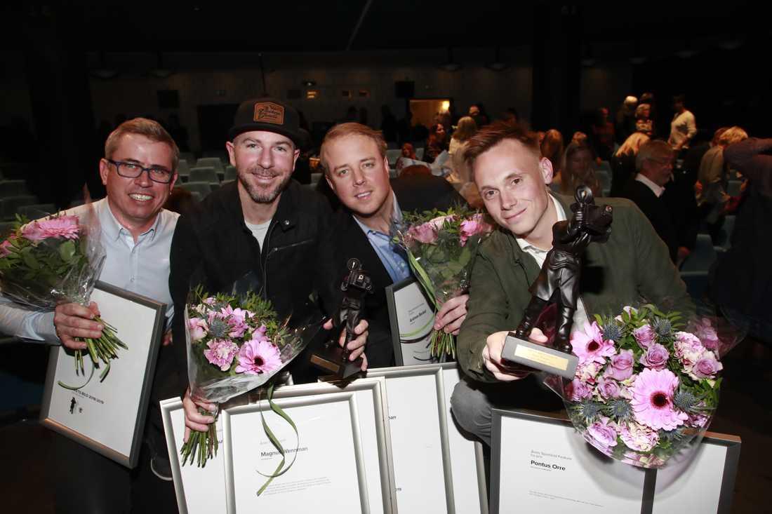 Anders Deros, Magnus Wennman, Andreas Bardell och Pontus Orre.
